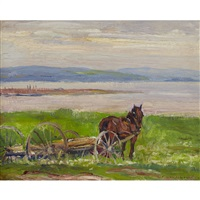 on the batore [sic]: baie st. paul by frederick william hutchison